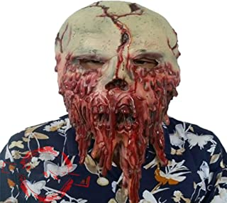 HUIMEIS AU Halloween Haunted House Ghost Cave Latex Cover Horror Horror Adult Ghost Face Mask