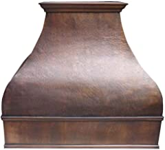 Custom Range Hood Made From 16Gauge Solid Copper Comes with Quiet Vent Sinda H2L