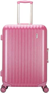 GLJJQMY Travel Luggage Trolley Business Boarding Password Box Luggage Bag Waterproof and Wear-Resistant Aluminum Frame Wheel Trolley case (Color : Rose Gold, Size : 54x33x72cm)