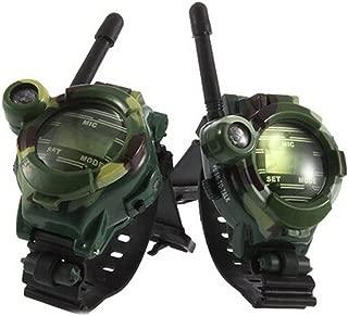Alician Children Toy Walkie Talkie Outdoor Children Parent Watches Intercom Two Way Radio Camouflage 2pcs