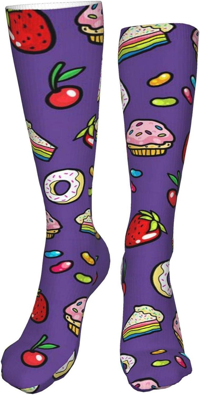 Cupcake Women Premium High Socks, Stocking High Leg Warmer Sockings Crew Sock For Daily And Work