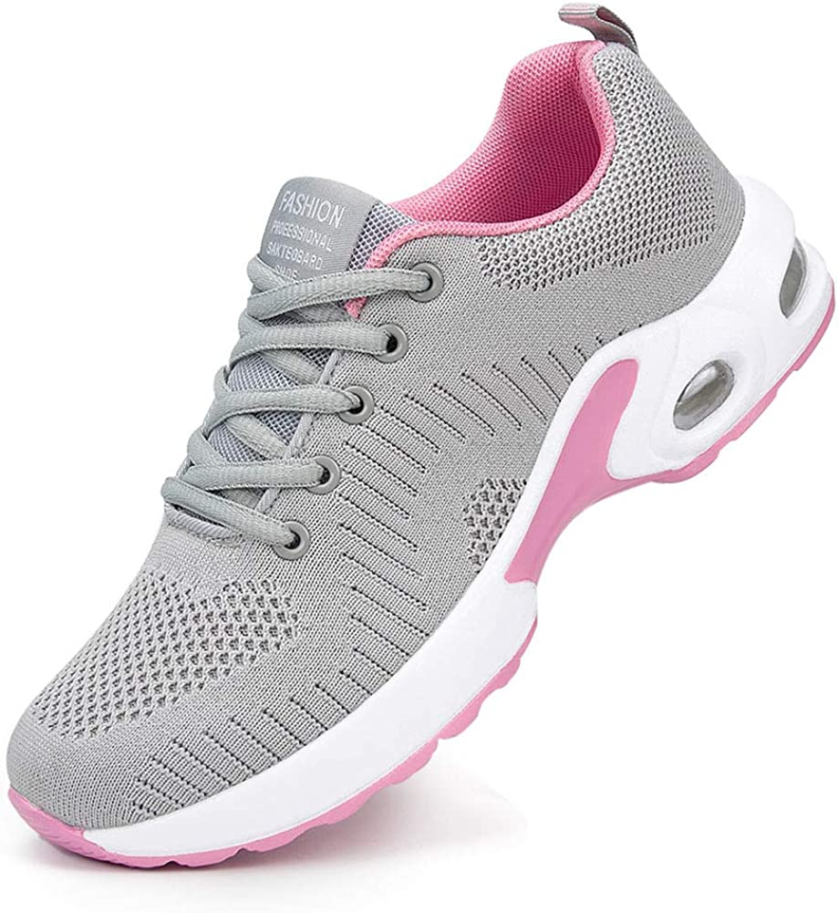 Alicegana Women's Athletic Workout Sneakers Comfortable Walking Breathable Running Air Cushion Casual Gym Sport Shoes