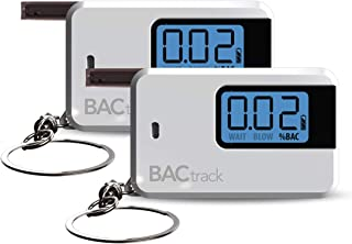 BACtrack Go Keychain Breathalyzer - White (2 Pack) | Ultra-Portable Breathalyzer Keychain for Personal Use