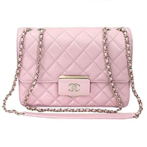 955cbe55ae87 Chanel Pink Sheepskin Leather Chain shoulder Flap bag A93222 Y60545