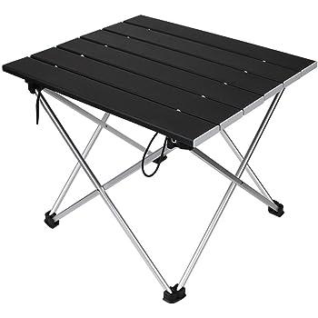 【ロールテーブル・キャンプ用品】 Linkax アルミ製 アウトドアテーブル 耐荷重30kg 専用収納袋付き (折畳テーブル)