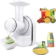 Machine à glace 3 en 1, sorbetière auto-refroidissante, sorbetière, une bonne aide pour couper, extraire du jus et faire d...