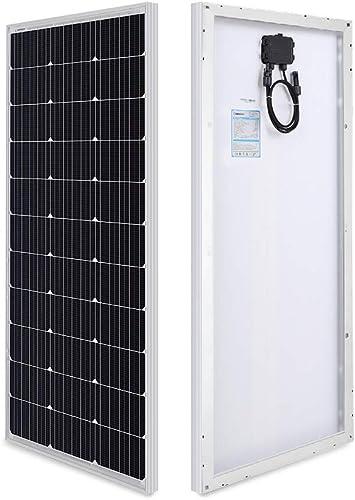 Renogy 100 Watt 12 Volt Monocrystalline Solar Panel, Compact Design 42.2 X 19.6 X 1.38 in, High Efficiency Module PV ...