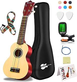 Everjoys Soprano Ukulele Beginner Kit 21 Inch Ukelele w/How to play Songbook Carrying bag Digital Tuner All in One Set