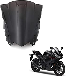 Areyourshop Windshield WindScreen Double Bubble for Yamaha YZF-R25 2014-2016 YZF-R3 2015-2016
