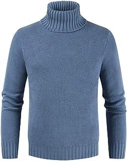 SHYY Maglioni Collo Alto Dolcevita Uomo Manica Lunga Maglia Casuale Pullover Maglieria Turtleneck Sweater Uomo Lupetto Mis...