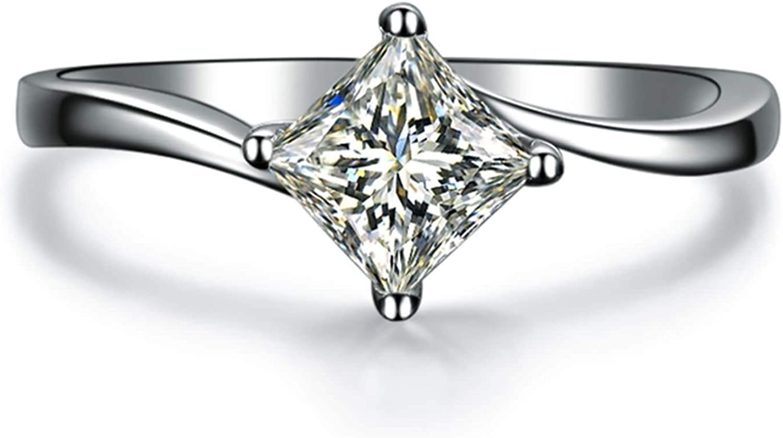 Aokarry Women's 18K White Gold Rhombus Diamond 0 Max Sacramento Mall 43% OFF Engagement Ring