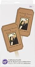 Wilton 120-1318 Kraft Fan Celebration Kit for Wedding, 24-Pack