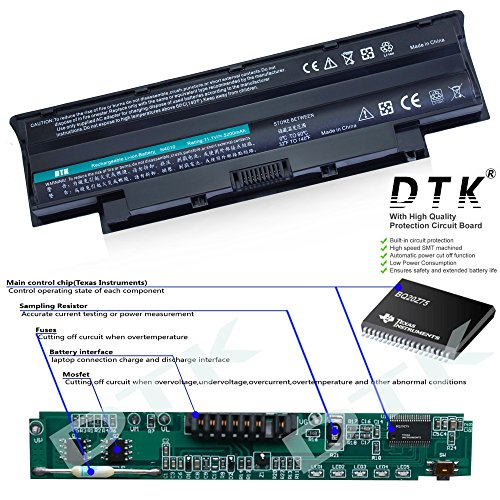 DTK® New Laptop Battery for Dell Inspiron 3420 3520 N5110 N5010 N4110 N4010 N7110 N3010 M5110 M4110 M501 M503 Series, Fits P/n J1knd 4t7jn [6-cell 5200mah/49wh]