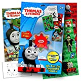 Thomas The Train On The Go Coloring Activity Set with Stickers, Coloring Book Pages, and Coloring Wheel Bundled with Separately Licensed GWW Activity Sticker