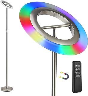 Anten Bifröst | Lampadaire sur Pied Salon LED 20 W avec télécommande | gradable, avec changement de couleur RGB | Parfait ...