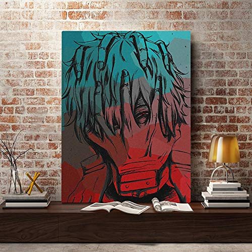 JFUGG Hero Academia Cartoon Characters Diamond Painting 5D DIY, Full Round Drill Embroidery Painting Cross Stitch Best Decor Art 40x50cm