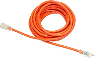 Amazon Basics 25-Foot 3-Prong Heavy-Duty Indoor/Outdoor SJTW Lighted Extension Cord - 15 Amps, 1875 Watts, 125V - 4-Pack, ...
