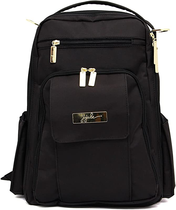 JuJuBe Be Right Back Multi Functional Structured Backpack Diaper Bag Legacy Collection The Monarch Black