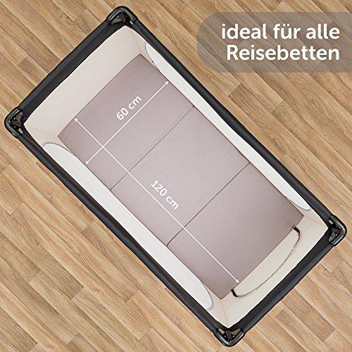 Alvi Reisebettmatratze Komfort 60x120 cm/Höhe 6 cm - Matratze für Baby Reisebett mit Baumwollbezug und Tasche, atmungsaktiv, waschbar, schadstoffgeprüft - 5