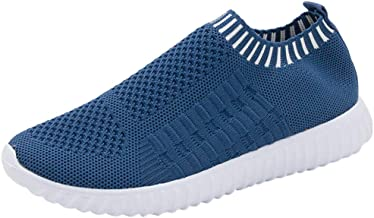 ♫Loosebee♫ Slip-On Sneakers for Women Fashion Outdoor Mesh Breathable Non-Slip Runing Shoes Casual Light Sport Shoes