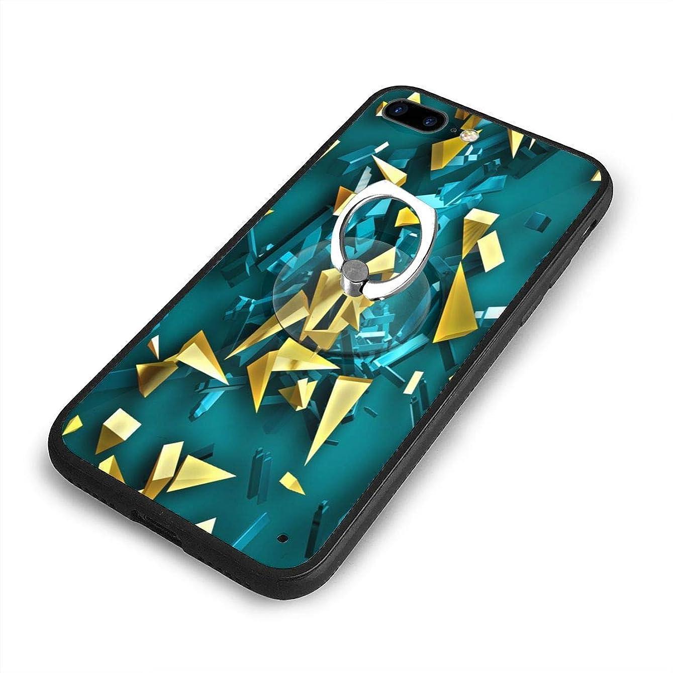 広いフィッティング指定菱形抽象iPhone 7/8 Plusケースリングブラケット 携帯カバー 創意デザイン軽量 傷つけ防止 360°回転ブラケット 携帯ケース PC 衝撃防止 全面保護