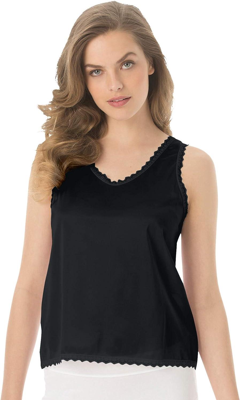 Comfort Choice Women's Plus Size Lace-Trim Camisole