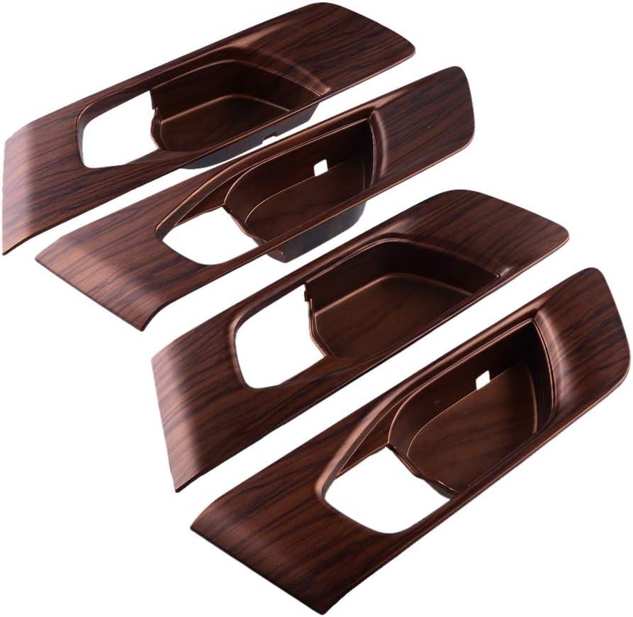 CITALL Sale special price 4Pcs Peach Wood Grain Superlatite Inner Handle Panel Trim C Bowl Door