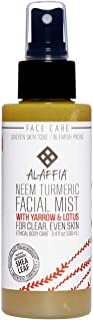 Alaffia Neem Turmeric Facial Mist, Helps Tone and Restore Protective the Skin's Protective Layers with Red Algae, Yarrow, and Tea Tree, Fair Trade, Harmonizing Neem, 3.4 Ounces