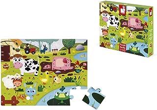 comprar comparacion Janod - Puzle Táctil para Niños 20 Piezas - Animales de la Granja - Desde 2 años (J02772)