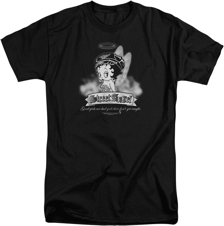 ca3f277041 Betty Boop - Mens Street Street Street Angel Tall T-Shirt 048088 ...