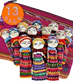 12 Super Cute Worry Dolls + 1 Free Guatemala Fabric Bag -Handmade Worry Doll for Our Guatemala Worry Dolls Set - Worry Dolls Guatemala - Guatemalan - Guatamalen