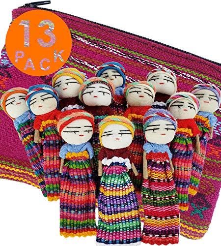 12 muñecos de preocupación superlindos + 1 bolsa de tela guatemala – muñeca de preocupación hecha a mano para nuestras muñecas guatemala – Muñecas de preocupación guatemala – guatemalteco – Guatamalen