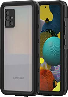 Fodral till Samsung Galaxy A51, 360 graders fodral utomhus skyddande hölje robust transparent skydd med integrerat skärmsk...