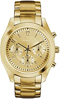 Caravelle Designed by Bulova Women's Quartz Watch with Stainless-Steel Strap, Gold, 18.5 (Model: 44L238)