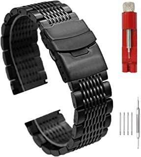 black metal mesh watch band