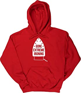 Gone Extreme Ironing Housework Men's Hoodie Hooded top Red