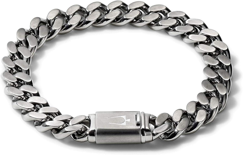 Bulova Mens Classic Stainless Steel SALENEW very popular Chain with Super Special SALE held Bru Bracelet Link