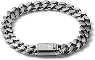 Mens Classic Stainless Steel Chain Link Bracelet with...