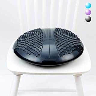 Extra Large Balance Disc Wobble Cushion with Premium Chair Fabric Cover,  Stability Core Trainer for Home or Office Desk Chair,  Kids Alternative Classroom Sensory Wiggle Seat