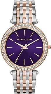 ساعة مايكل كورس دارسي للنساء بمينا ارجواني وبسوار ستانلس ستيل - MK3353