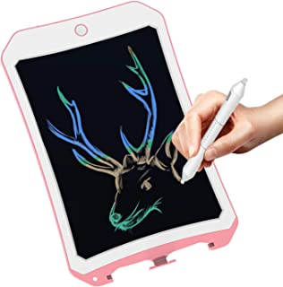 Spring&8.5 inch Writing &Drawing Board Doodle Board Toys for Kids, Spring& Birthday Gift for 4-5 Years Old Kids & Adults Color LCD Writing Tablet with Stylus Smart Paper for Drawing Writer (Pink-white