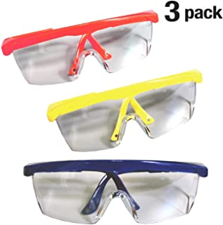 Safety Glasses With Shield Frame Eyewear, Personal Protective Equipment - For Home Project, Dental, Lab Work, Outdoor Use (Assorted)