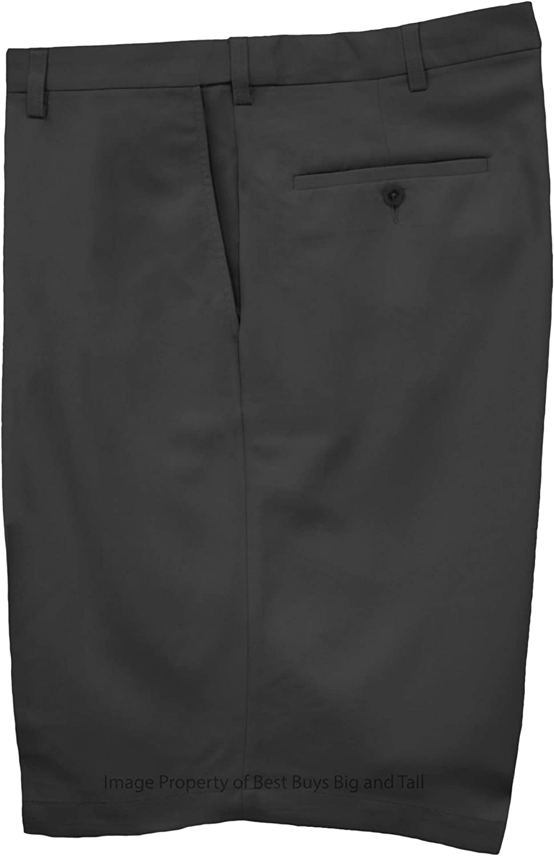 Haggar Big & Tall Men's Flat Front Casual Shorts Expandable Waist