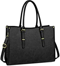 Laptop Bag for Women 15.6 Inch Waterproof Lightweight Leather Laptop Tote Bag Womens Professional Business Office Work Bag...