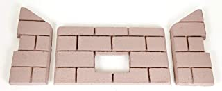 Whitfield Profile 30 & Optima 3 Premium Sandstone FIRE-TEK Firebrick for Pellet Stoves