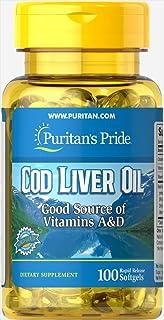 Puritan's Pride Cod Liver Oil 415 mg-100 Softgels