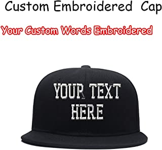 Custom Embroidered Hip-hop Hat Personalized Adjustable Hip-hop Cap Add Your Text