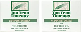 Tea Tree Therapy Vaginal Suppositories with Oil (2-Pack of 6)