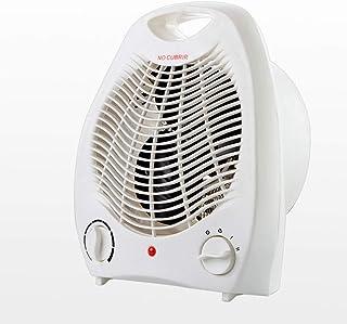 Jiareq1 Calefactor Ventilador Personal Calentador Espacio Personal Calentador eléctrico de Calentamiento habitación Fresca Portable Office Ventilador 2000w Blanca