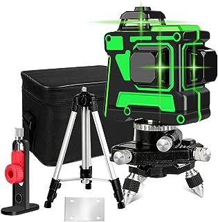 5 m personal completo conjunto de la medida de construcci/ón Ridgeyard nivel laser totalmente autom/ática nivel de autonivelaci/ón l/áser rotativo 1,65 tr/ípode de aluminio